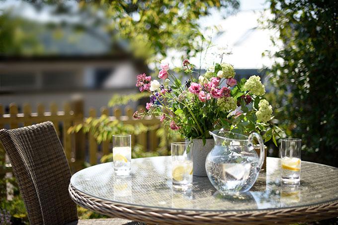 Enjoy sitting outside of the Cottage