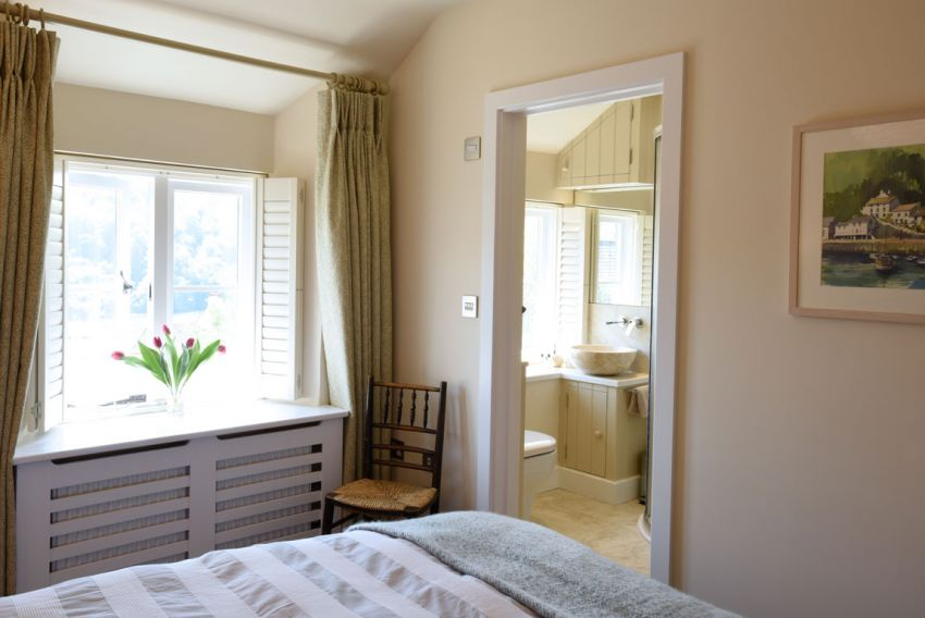 Master bedroom with view to ensuite